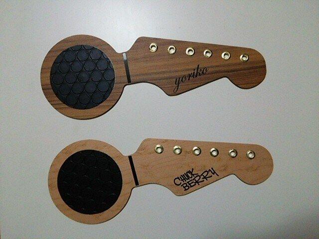 ギター形コースターの画像1枚目