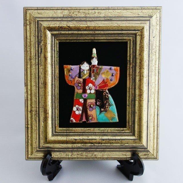 七宝焼 飾り額 雛人形(中)の画像1枚目