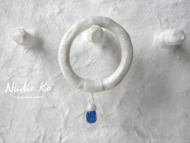 和紙リング 白雫 カイヤナイト の画像1枚目