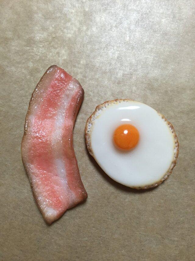 目玉焼き&ベーコン マグネット 再販の画像1枚目