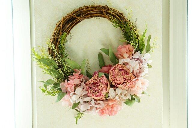 芍薬のspring wreath  の画像1枚目
