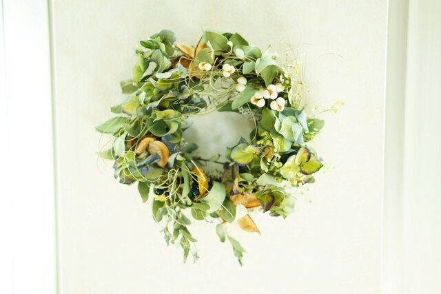 green spring wreath  20㎝の画像1枚目