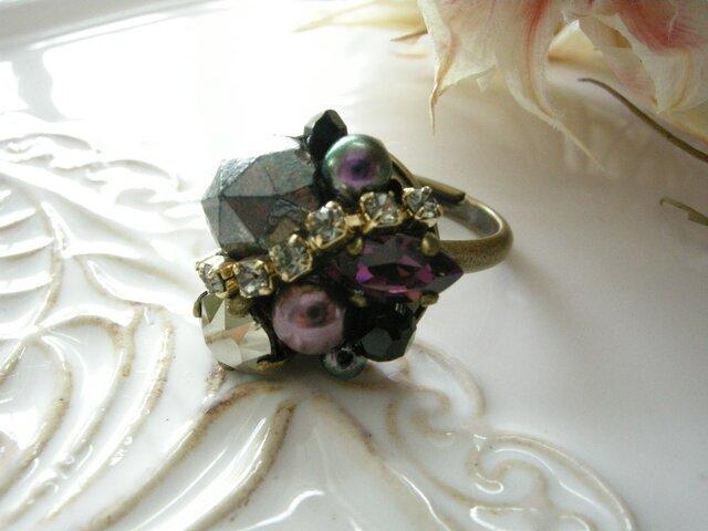 Bijouxリング -purple viola-の画像1枚目