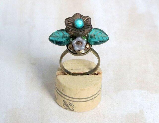 お花の指輪(マットブラック)の画像1枚目