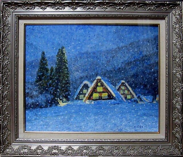 雪の白川郷の画像1枚目