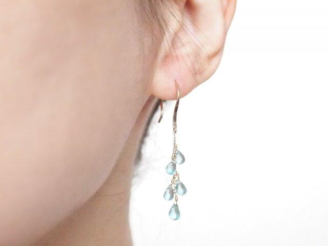 K10 Dripping Earrings GRの画像1枚目