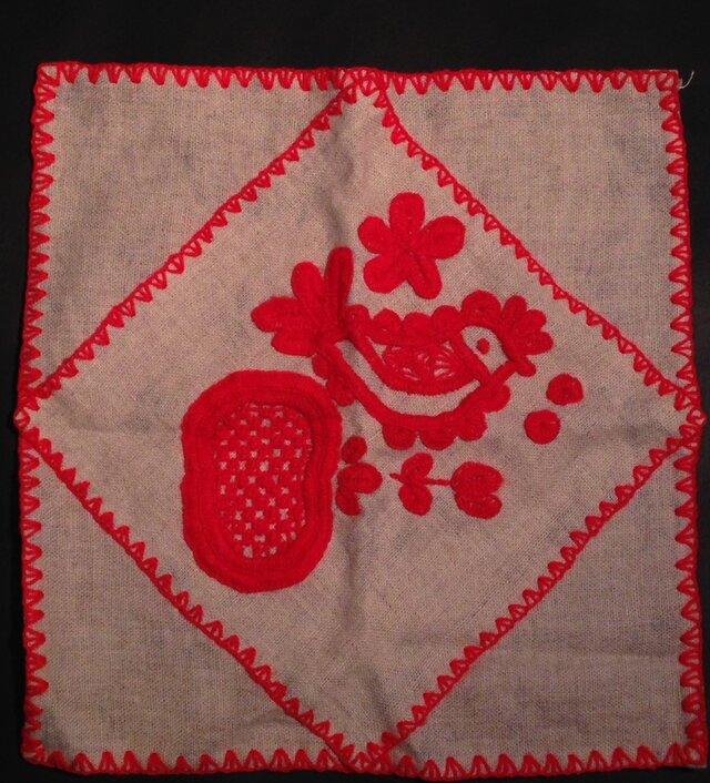 リネン刺繍布 2の画像1枚目
