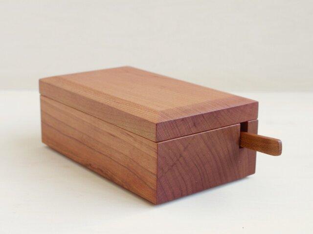 桜の木のバターケース+桜のバターナイフ(セット)の画像1枚目