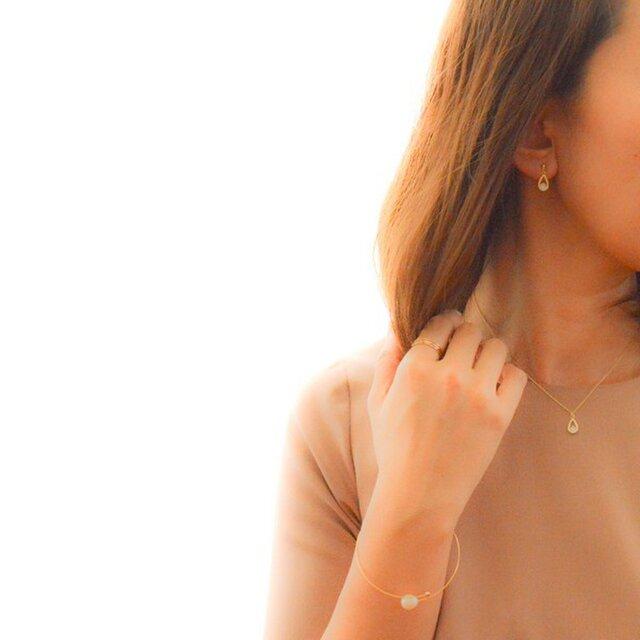 Drop Zirconia Pierce/Earringの画像1枚目