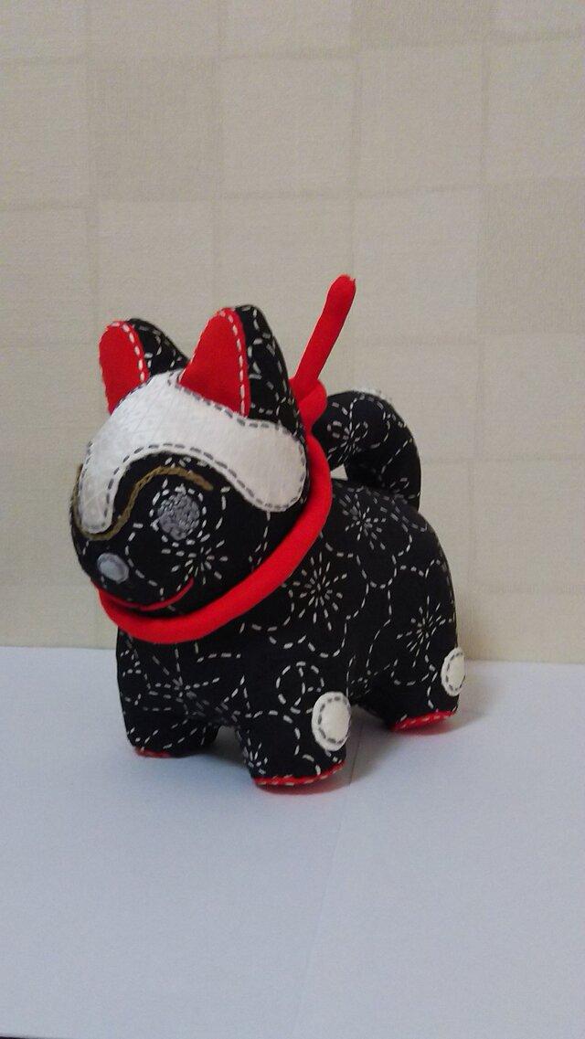 張子犬  BIYO (もみじ黒)の画像1枚目