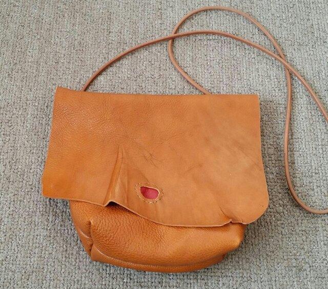 再販◆牛革 ショルダーバッグの画像1枚目
