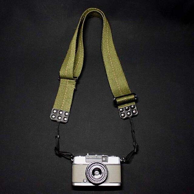 ミリタリーカメラベルトFrance 先端幅7mmミラーレス、小型カメラ用の画像1枚目