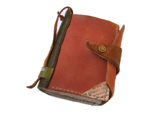 book wallet 赤茶の画像1枚目