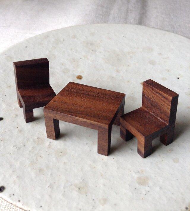 カフェテーブルセット(BW)の画像1枚目