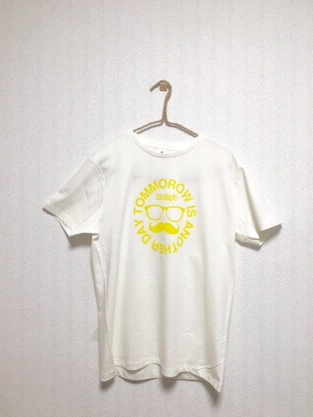 【ヒゲメガネ】Rocky's オリジナルTシャツ ライトイエローの画像1枚目