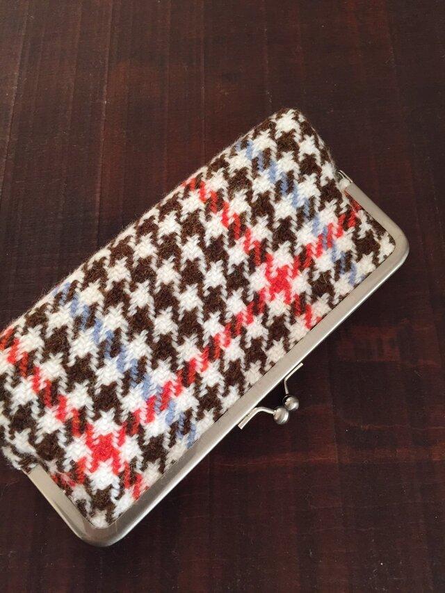 手織りガマ口ポーチ(RORA)の画像1枚目
