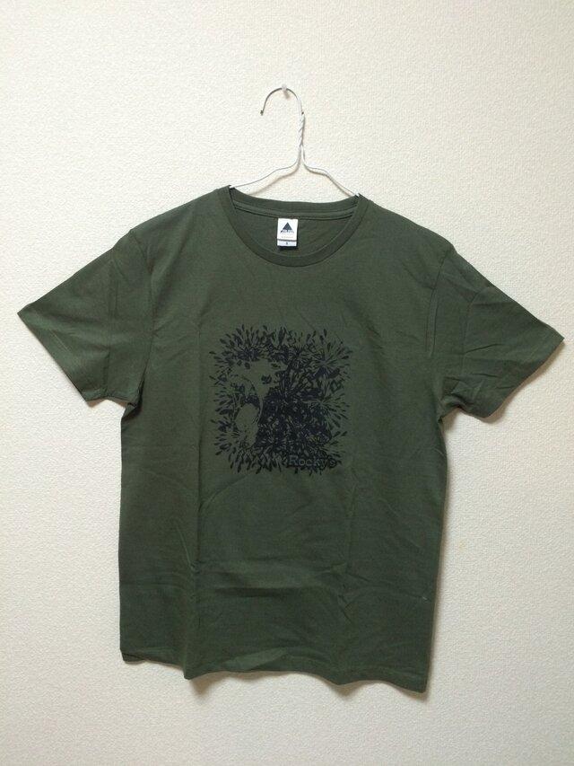 【Monkey】Rocky's オリジナルTシャツ カーキの画像1枚目