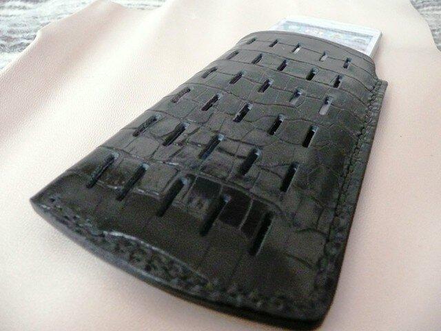 i Phone 5専用ケース 牛本革手縫いの画像1枚目