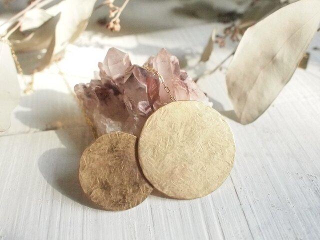 カサナルお月様 真鍮ネックレス №1の画像1枚目