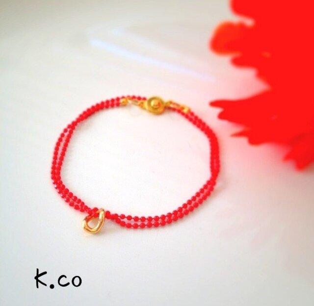【bracelet】 redの画像1枚目