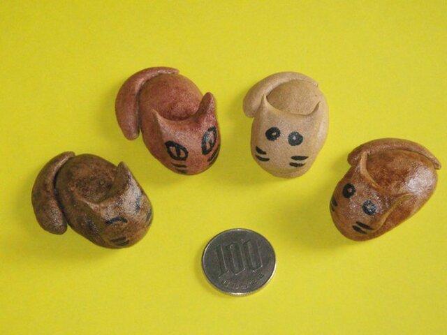 猫のハシ置きセット(WOOD)の画像1枚目