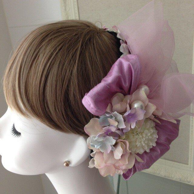 ウェディングヘットドレス  bonne ピンクの画像1枚目