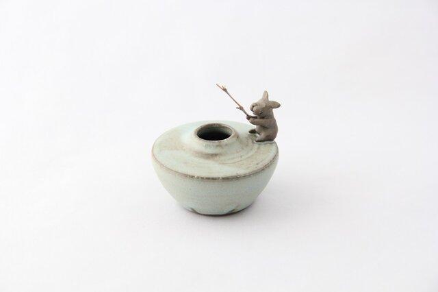 釣りが大好きフレブルちゃん花器の画像1枚目