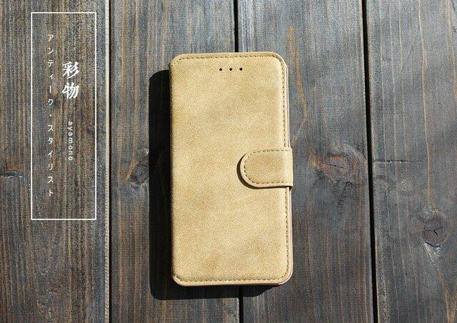 【受注製作】シックな美 なめらか牛革iphone6/6s/plusケース 丈夫な作り オウド色 KK86の画像1枚目