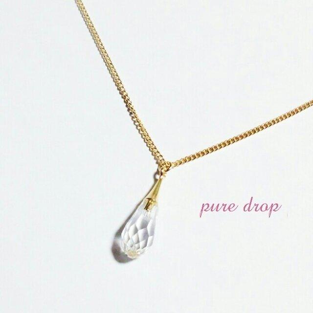 *pure drop*ネックレス《gold》の画像1枚目
