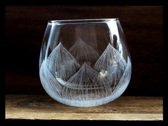 【受注制作】グラス--蓮花の画像1枚目