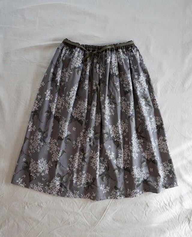 リバティ*リボンスカート(アーカイブライラック・グレー)の画像1枚目