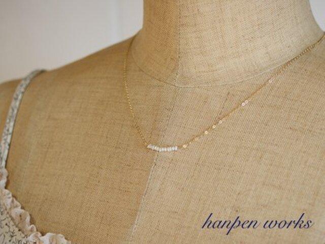 14kgf 極小 淡水ケシパール ネックレスの画像1枚目