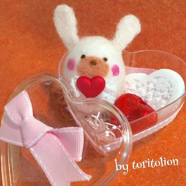 ラブうさぎコボシのバレンタインギフト(ピンク)の画像1枚目