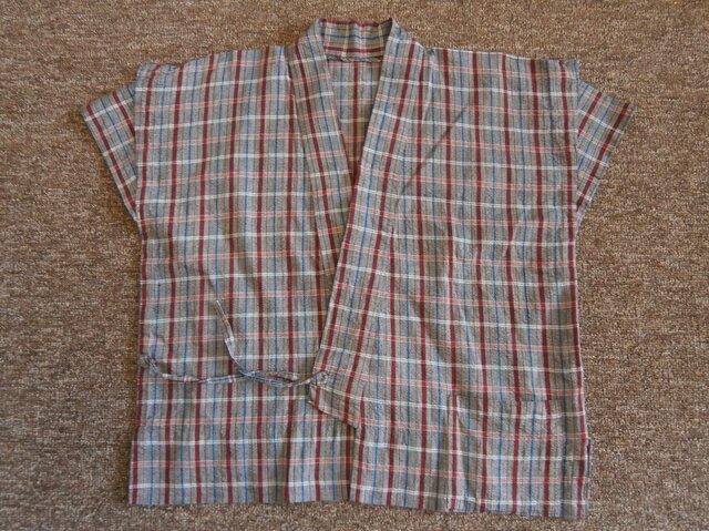 着物リメイク作務衣の画像1枚目