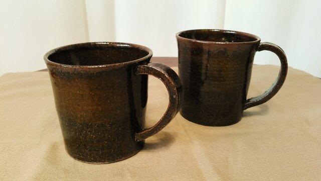 飴釉 たっぷりマグカップの画像1枚目
