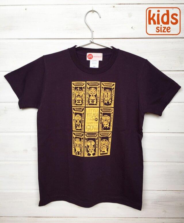 MASK TOWN ディープパープル Tシャツの画像1枚目