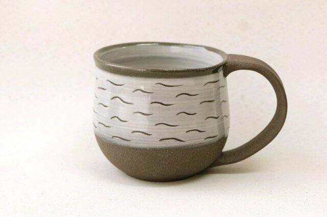 白と黒のマグカップ (かきおとし)の画像1枚目