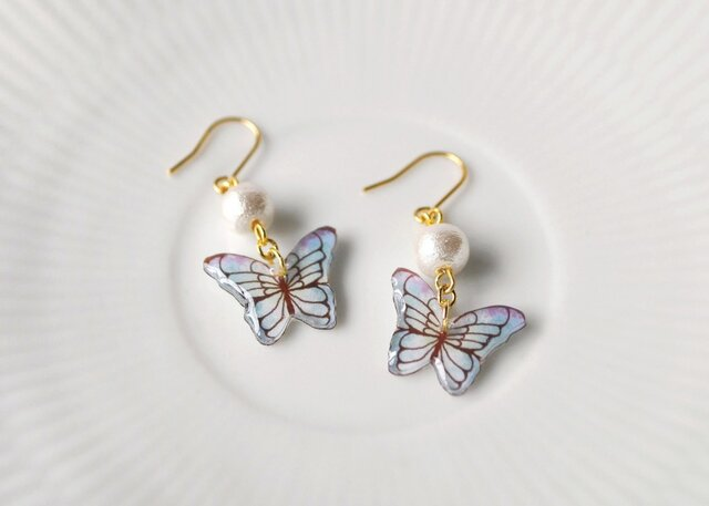 033 BUTTERFLY DROP PIACE(イヤリングOK)の画像1枚目