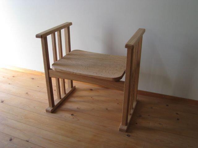 玄関椅子(板座)の画像1枚目