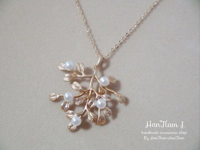 再販3 【HanTtam J】  tree of pearls necklaceの画像1枚目