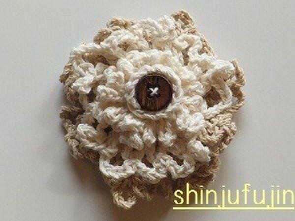 【Sold】お花畑のコサージュ01の画像1枚目