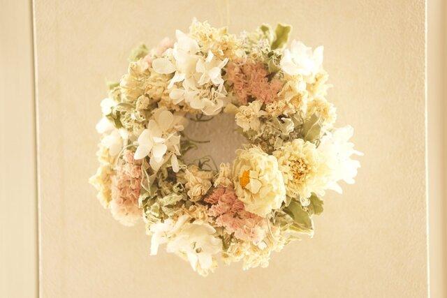 spring wreath  ダリアの画像1枚目