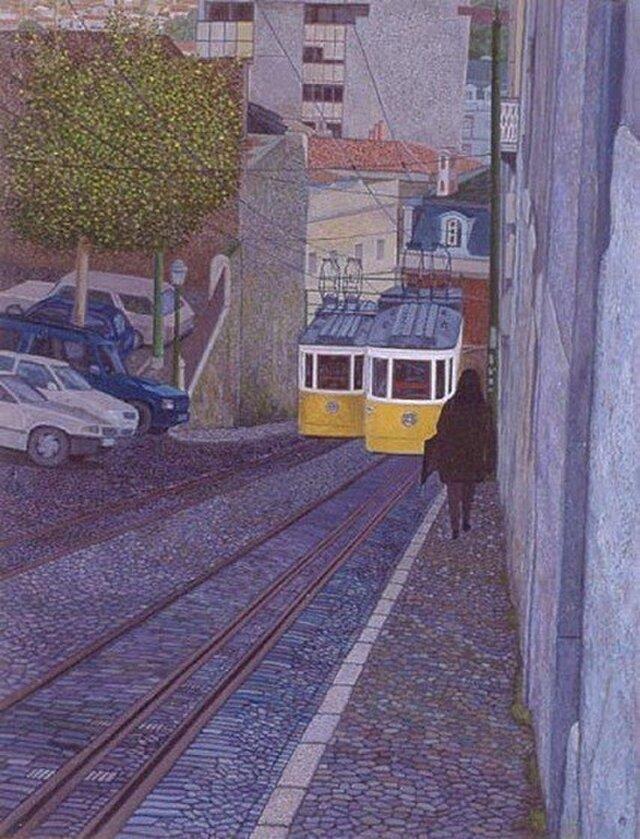 ケーブルカーのゆく道の画像1枚目