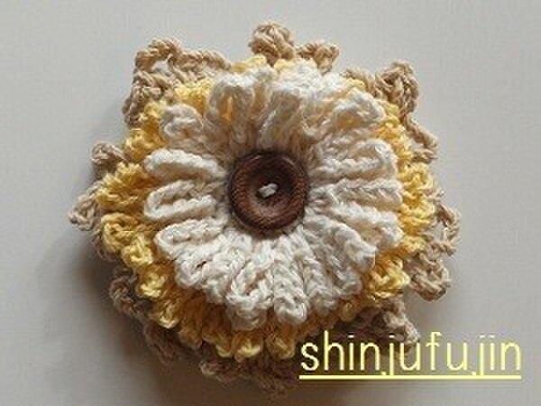 【Sold】お花畑のコサージュ02の画像1枚目