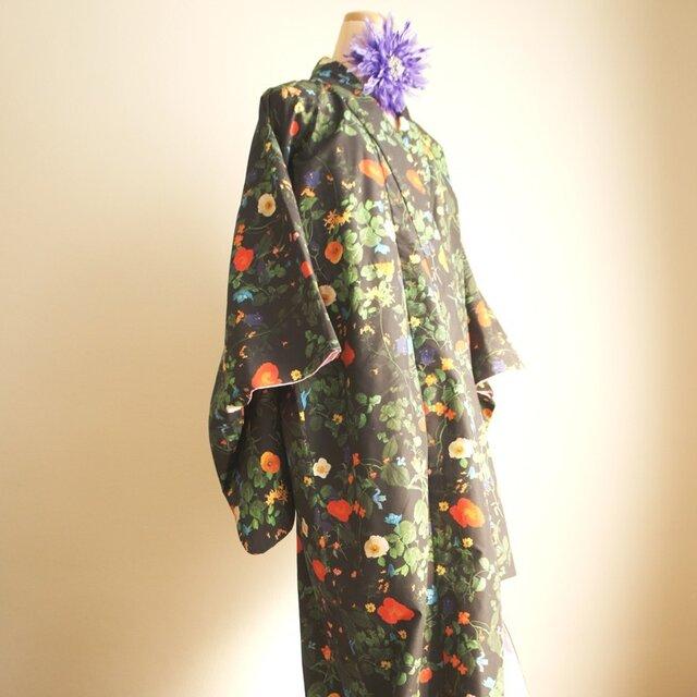 kimono D/#植物図鑑 C/#BKの画像1枚目
