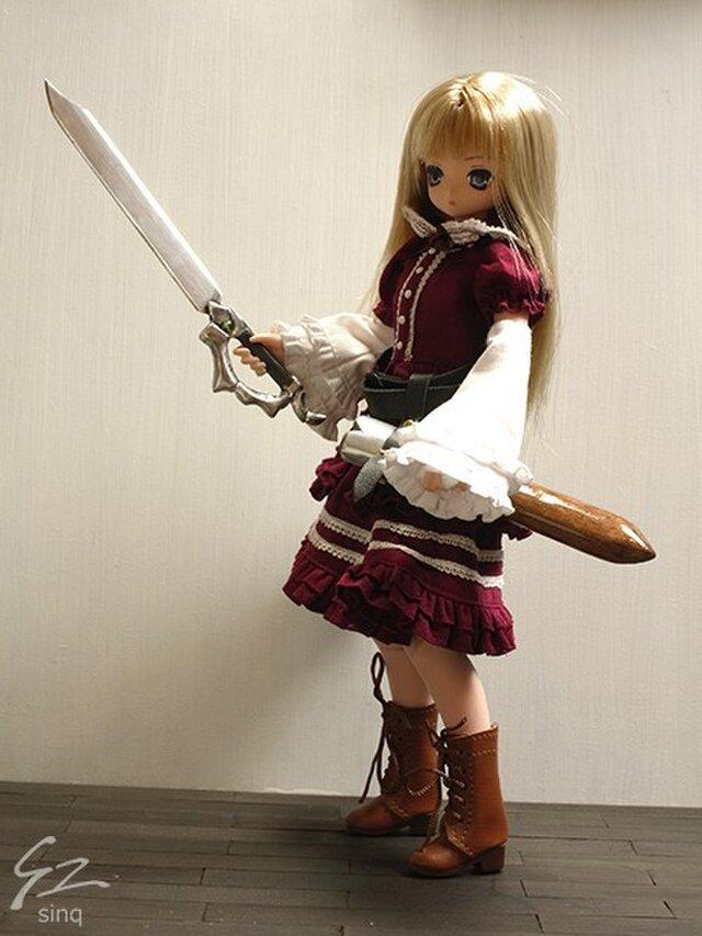 【sinq】1/6ドール用武器・西洋刀剣6.6 片手剣 ソード+1の画像1枚目