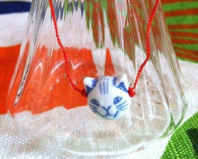 Bracelet:Chinese cat(blue)の画像1枚目