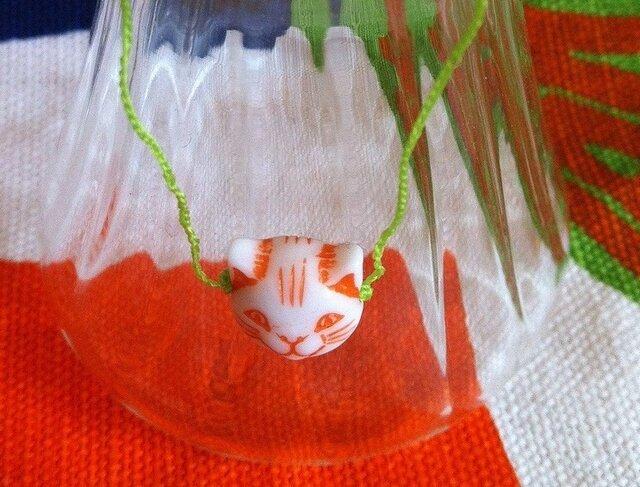 Bracelet:Chinese cat(red)の画像1枚目