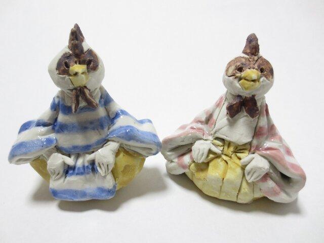 ちび雛人形 -にわとり-の画像1枚目