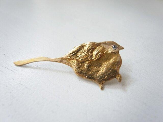 尾なが鳥のブローチの画像1枚目